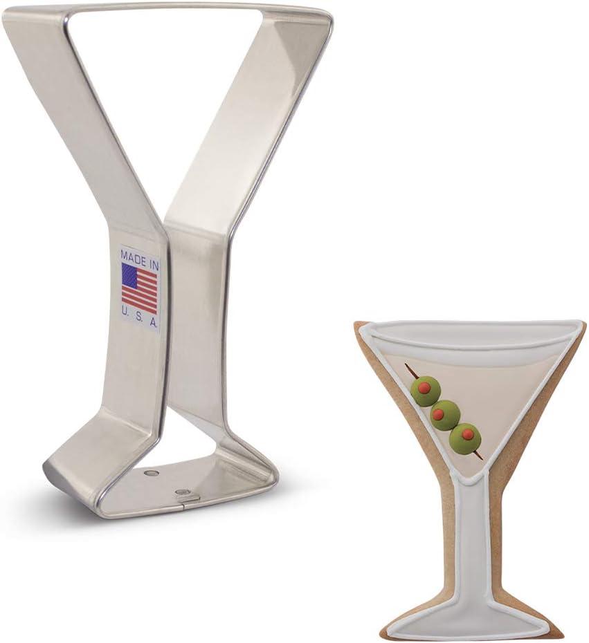 Ann Clark Cookie Cutters Martini Glass Cookie Cutter, 4.25