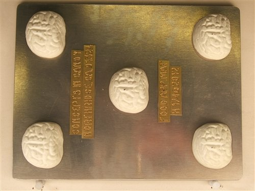 Intestines ascending, transverse and descending colon pieces H174 Halloween Chocolate Candy Mold