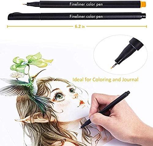 Tukcherry 24 Colori Penna Punta Fine Per Scrivere Schizzo Calligrafia Disegno Di Disegni Da Colorare Pennarello