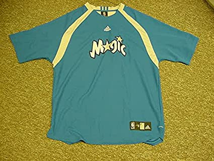 cf273c1080c Image Unavailable. Image not available for. Color  Carlos Arroyo Orlando  Magic Game Worn Shooting Shirt