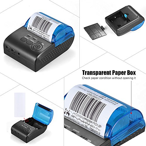 Aibecy 58mm thermal receipt printer portable mini wireless for Thermal star windows