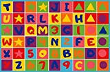 CR'S KIDS EDUCATIONAL/PLAYTIME RUG (LETTERS AND NUMBERS) (8 Feet X 10 Feet)