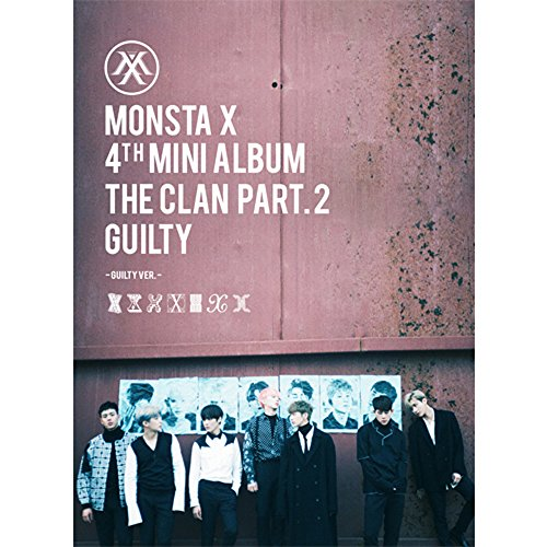 KPOP MONSTA X 4th Mini Album - The CLAN 2.5 Part.2 Guilty [Guilty version] CD + Photobook + Photocard by LOEN ENTERTAINMENT