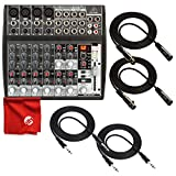 Behringer Xenyx 1202FX Premium 12-Input 2-Bus Mixer with XENYX Mic Preamps and British Eqs Including 2X 10' TRS Cables and 2X 10' XLR Cables