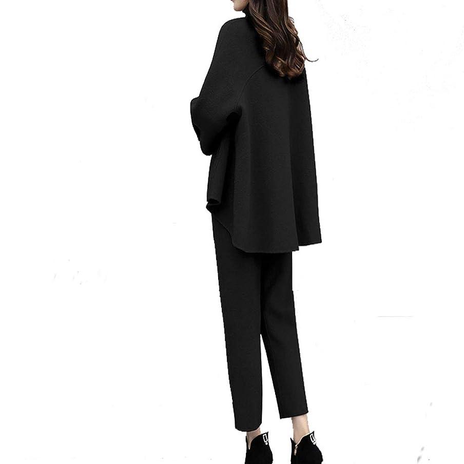 統合する指令すりJIANGWEI レディース スーツ 2点セット パンツスーツ セット オフィス 就活 通勤 ビジネス 事務服 フォーマル 洗える おしゃれ ゆったり