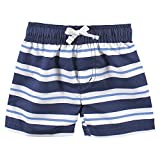 Hudson Baby Unisex Swim Rashguard Set, Blue