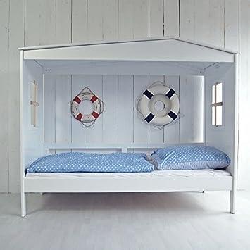 Lounge de zona Koje cama cabaña playa casa cama casetas de playa-Cama infantil madera maciza Pino Madera Color blanco 90x 20010668: Amazon.es: Hogar