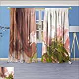 Printsonne Thermal Weaved Blackout Curtain,Female sex Room Darkening & Noise Reduction Fabric - Premium Draperies, 72W x 72L Inch
