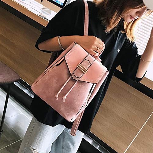 Donna Viaggio Pink In Weatly Pelle Ragazze A color Elegante Zaino Borsa Brown Per Da Vera Tracolla ST4fTpq