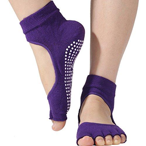 Non Slip Skid Yoga Pilates Socks with Grips for Women