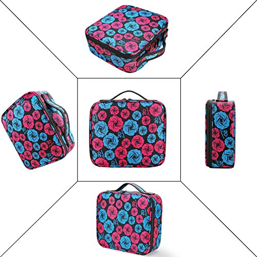 Makeup Case for Traveling Yolife Portable Make up Bag Organizer with Brush Set Holder Storage Case