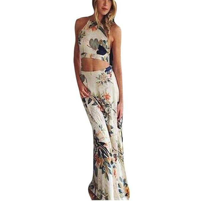 Kleider Damen Dasongff Damen Strandkleid Blumendruck Lange Maxi ...