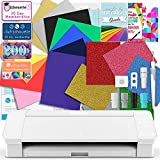 Silhouette White Cameo 4 Deluxe T-Shirt & Fabric Vinyl Bundle with HTV, Guides, and More