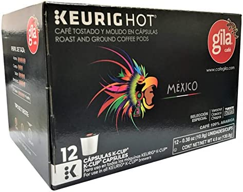 Café Gila Mexico Blend Coffee Single Serve Pods, 12 Count Box (12 Pods)