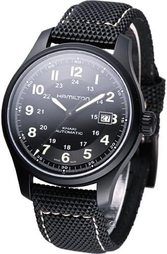 ساعة هاميلتون كاكي افياشين بهيكل تيتانيوم وبسوار قماشي للرجال H70575733