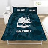Call of Duty Broken Skull Camo 2 Piece UK Double /US Full Sheet Set  1 x Double Sided Sheet and 2 x Pillowcases (DP1-COD-BSC-08)
