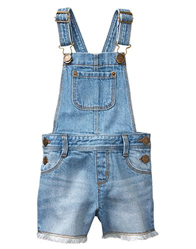 Gymboree Girls' Toddler' Denim Short Overall with Fray, 2T