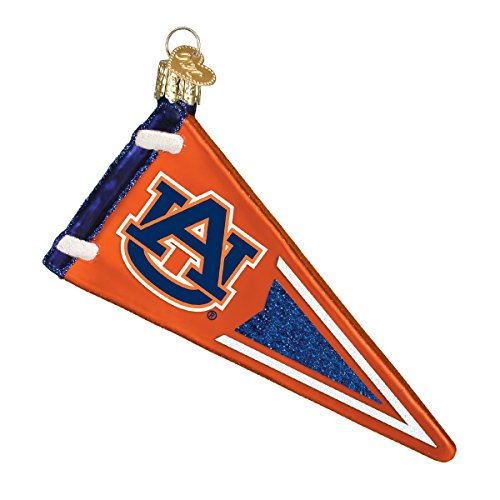 - Old World Christmas Ornaments: Auburn Pennant Glass Blown Ornaments for Christmas Tree