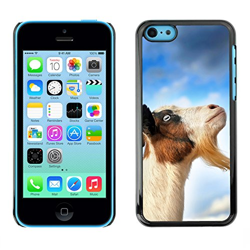 Premio Sottile Slim Cassa Custodia Case Cover Shell // V00001713 ciel chèvre // Apple iPhone 5C