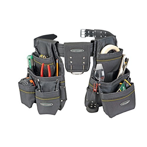 21 Pocket Heavy Duty Tool Belt Durable two-layer cowhide by Voyager by Voyager (Image #1)
