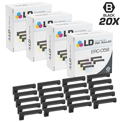 - LD Compatible Printer Ribbon Cartridge Replacement for Epson ERC-05B (Black, 20-Pack)