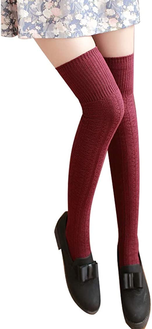 Mujer Calcetines de Punto de Algodón de Moda Otoño Invierno de ...