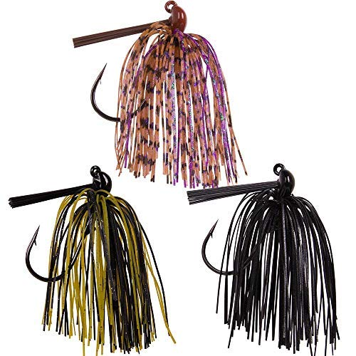 (Dr.Fish Tungsten Flipping Jig Fishing Lure Jig for Bass Pike Muskie Walleye 3/8oz Lot 3 Lead Free )