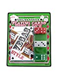 Vegas style playing card with dice-Package Quantity,120