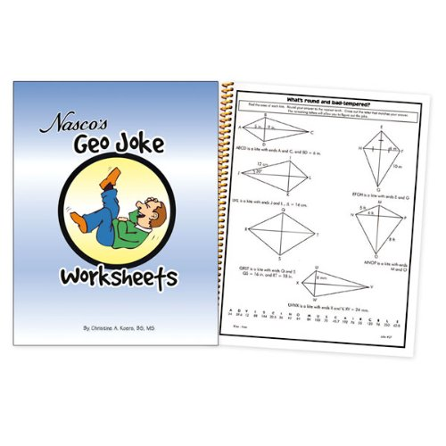 Counting Number worksheets math picture worksheets : Amazon.com: Nasco TB20658T Geo Joke Worksheets, 64-Page Book ...