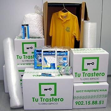 Pack Pequeña Mudanza (Cajas de cartón, armario, precinto y burbuja ...