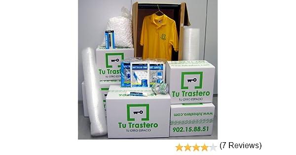 Pack Pequeña Mudanza (Cajas de cartón, armario, precinto y burbuja): Amazon.es: Hogar