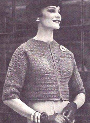 - Jiffy Jacket Sweater Bolero Crochet Pattern Sizes Small Medium and Large 30 to 40