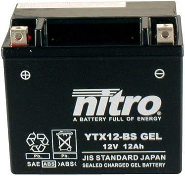 Batterie 12v 10ah Ytx12 Bs Gel Nitro 51012 Vfr 750 F Rc36 90 97 Auto