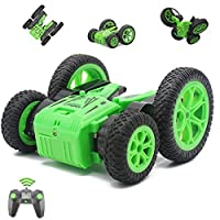 Fisca Remote Control Car RC Stunt Car for Kids, 4WD 2.4GHz Double Sided Spinning Blooming Tumbling Tricks Truck Toys for Boys Age 5, 6, 7, 8, 9 and Up Year Old
