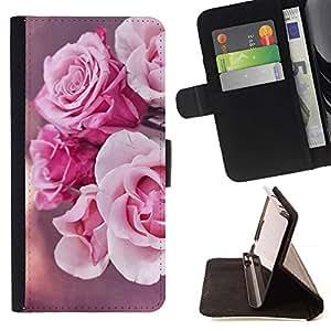 Flores Rose Pink Naturaleza Sun- Modelo colorido cuero de la carpeta del tirón del caso cubierta piel Holster Funda protecció Para Apple (5.5 inches!!!) iPhone 6+ Plus / 6S+ Plus