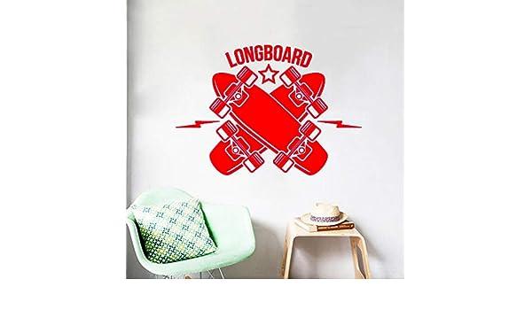 Tatuajes de Pared Longboard Skateboarding Deportes Vinilo ...