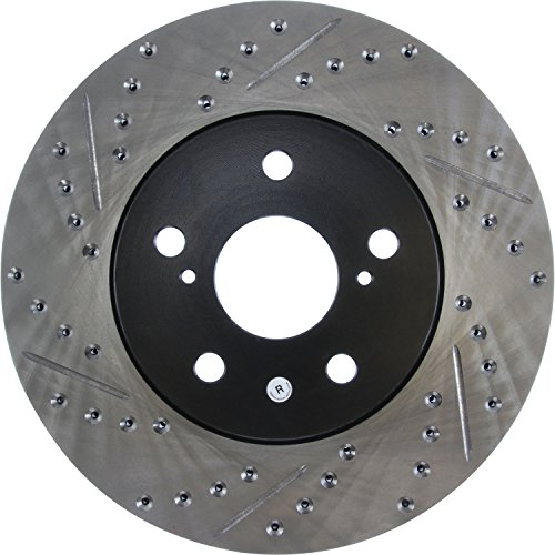 Slotted Rotor Stoptech Front (StopTech 127.44125R Sport Drilled/Slotted Brake Rotor (Front Right), 1 Pack)