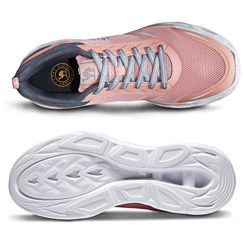 Rosa atléticas Correr Zapatillas Trail Zapatillas Golpes a para de y Resistentes para Deportivas Transpirables Mujer Zapatos los Deporte nTSpfqw