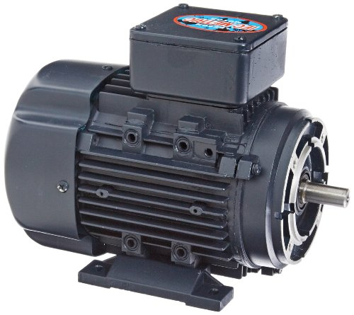 Leeson 192038.00 Rigid Base IEC Metric Motor, 3 Phase, D71C Frame, B3/B14 Mounting, 0.5HP, 1800 RPM, 230/460V Voltage, 60/50Hz Fequency by Leeson