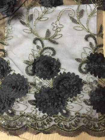 Lace - New Arrival African Lace ! African Net Lace French Fabric with Seqiun Embroidery Royal Blue - (Color: AS Pictures)
