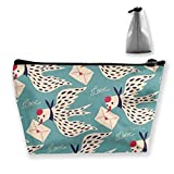 Letter Pigeon Cosmetic Bags Travel Toiletry Pouch Portable Trapezoidal Storage Pencil Holders