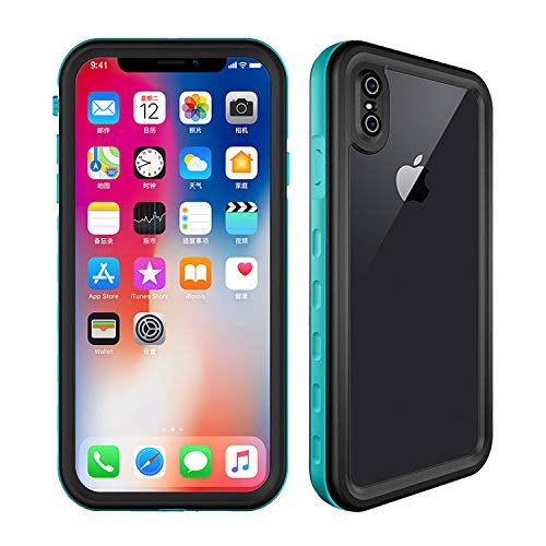 iPhone Xs Max Waterproof Case, ZERMU Dustproof Snowproof Shockproof Cover IP68 Underwater Full Body Protection Built-in Screen Protector Underwater Waterproof Case for iPhone Xs Max 6.5 inch 2018