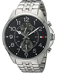 Tommy Hilfiger Mens Quartz Stainless Steel Casual Watch, Color:Silver-Toned (Model: 1791276)