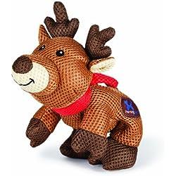 Charming Pet Mesh Christmas Pet Squeak Toy, Reindeer