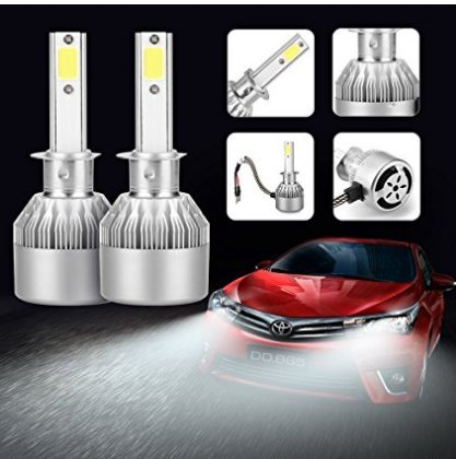 AGM LED C6 H1 Luces Delanteras del Coche (High Beam), 36W Alta Potencia LED COB Bombillas para Faros Delanteros, 2pcs/paquete