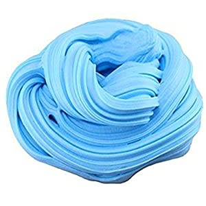 Fluffy Slime Jumbo Floam Slime Sludge Toy,Fidget Works Super Soft and Non-sticky,Fluffy Slime Stress Relief Toy Scented Sludge Toy for Kids and Adults (Blue)