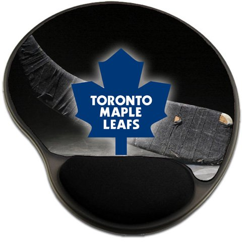(Maple Leafs Hockey Mousepad Base with Wrist Support Mouse Pad Great Gift Idea Toronto)