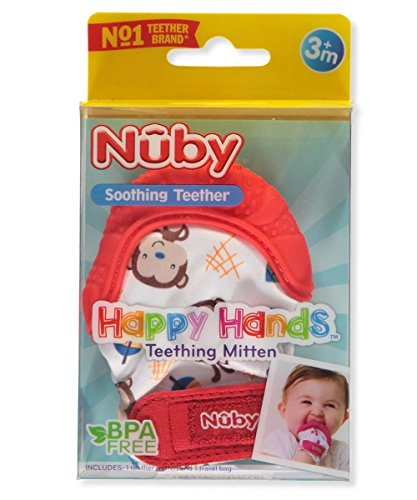 Nuby-Happy-Hands-Soothing-Teething-Mitten-with-Hygienic-Travel-Bag