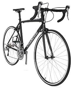Vilano FORZA 1.0 Aluminum Carbon Shimano 105 Road Bike, Matte Black, 57cm/Large