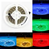 BZONE 5m/16.4FT SMD5050 300 LEDs IP68 Waterproof Submersible LED Lighting Underwater Flexible LED Strip Lights for Swimming Pool Pond Under Water Lake Acquarium - RGB Color